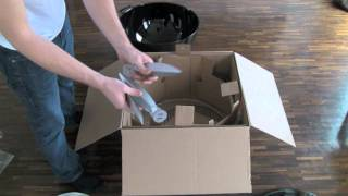 "Weber One Touch Black 22,5"" Barbecue Grill Unboxing And Assembling"