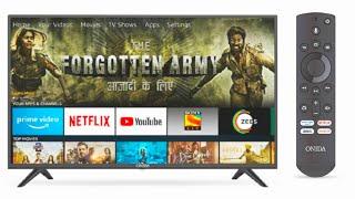 Onida 108cm 43inches Full HD Smart IPS LED TV - Fire tv edition black - Onida budget smart tv in