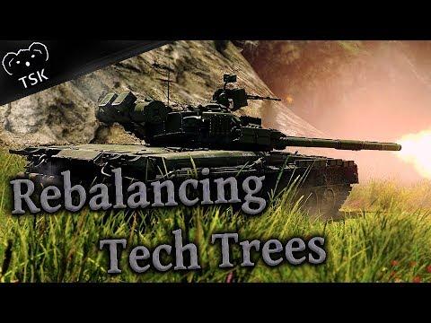 Rebalancing War Thunder's Top Tier Tank Tech Trees in Preparation for Rank VII