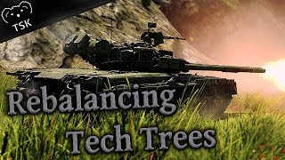 Rebalancing War Thunder's Top Tier Tank Tech Trees in Preparation for Rank VII