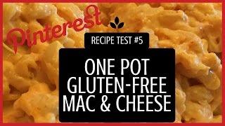 One Pot Gluten-Free Mac & Cheese (Vegetarian) (Gluten-Free) - PINTEREST RECIPE TEST #5