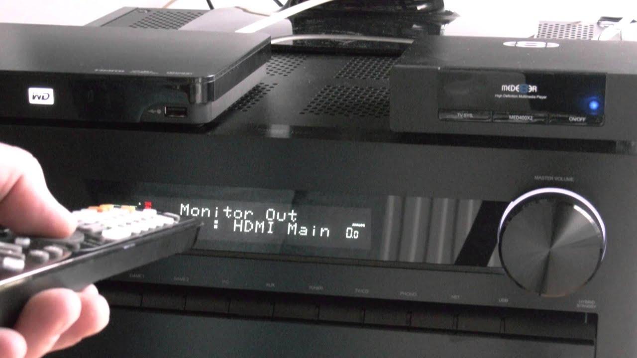 ONKYO TX-NR5010 How to setup & use HDMI Zone 2