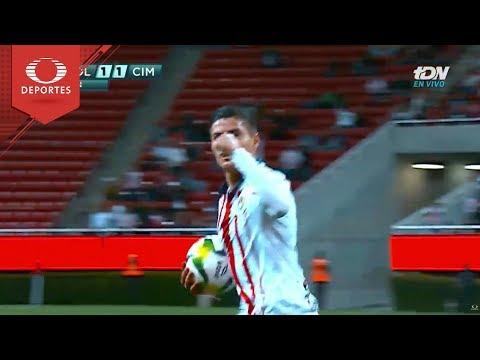 Gol de Cisneros | Chivas 1 - 1 Cimarrones | Copa Mx - J4 - Cl 19 | Televisa Deportes