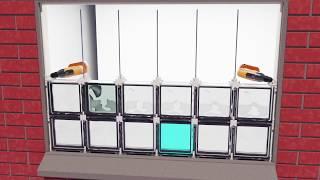 Bloki Szklane Bezpośrednie Pręty i Montaż Zaprawy