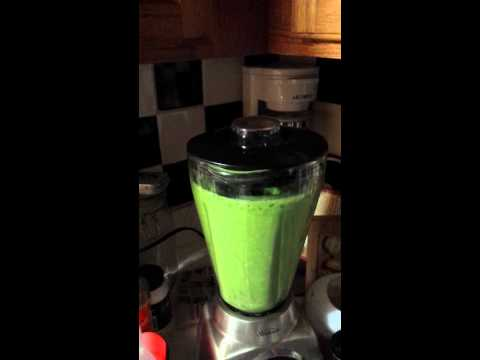 Smoothie;  Kale, Spinach, Banana, Coconut Yogurt,