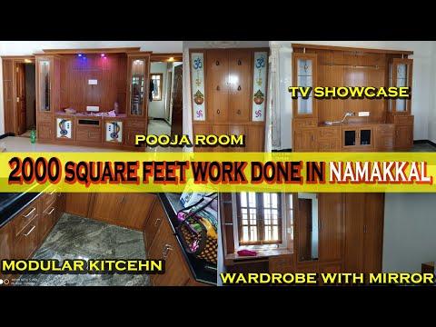 PVC Modular Kitchen Tour,PVC Interiors,PVC Full Home Interior Design - Balabharathi 9663000555