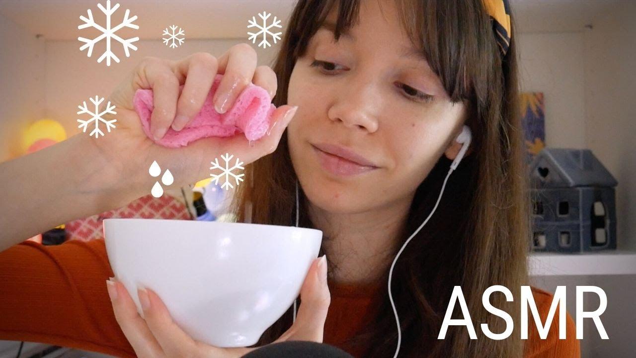 ASMR | Soin du Visage avec Masque Gel & Éponge Glacée