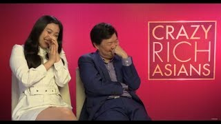 Have a giggle with Crazy Rich Asian stars Awkwafina and Ken Jeong