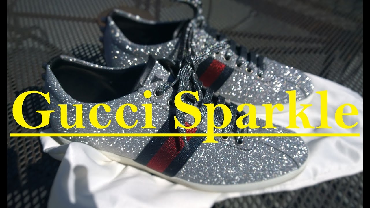 94c21cab6c5b Gucci Sparkle Shoe Review Unboxing - YouTube
