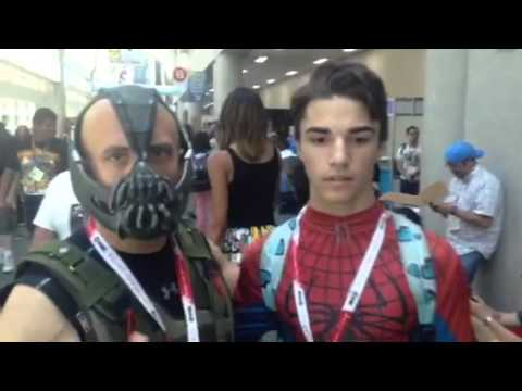 Bane And Spiderman At Comic Con #SDCC