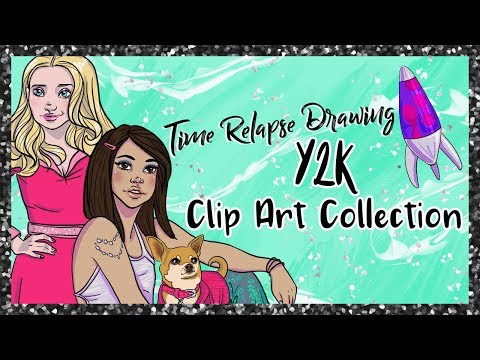 Draw With Me: Y2K Clip Art Collection