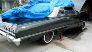 1963 impala 406 sbc flowmaster exhaust hedman elite headers