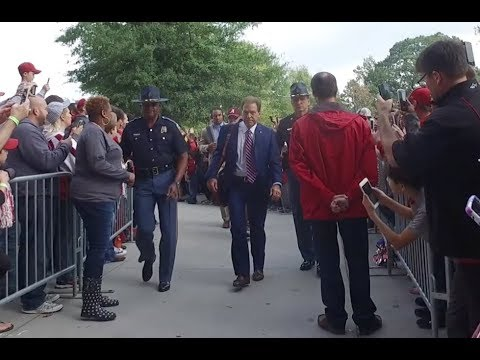 Nick Saban, Jalen Hurts and Bo Scarbrough lead Alabama Football to the locker room.