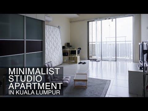Minimalist Studio Apartment in Kuala Lumpur, Malaysia / クアラルンプールのミニマリストアパート