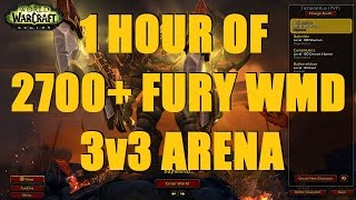 Bajheera - 1 HOUR OF 2700+ FURY/ARCANE WMD 3v3 ARENA- WoW 7.1.5 Legion PvP