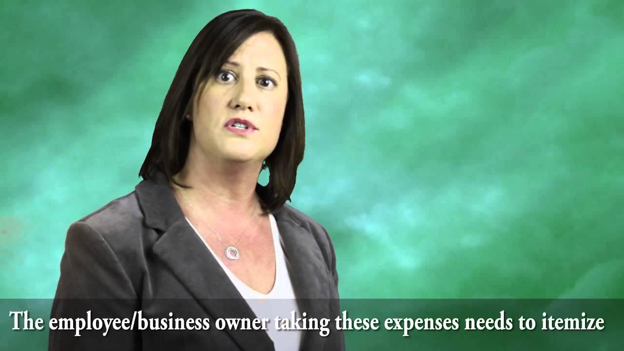 Unreimbursed employee expenses YouTube – Unreimbursed Employee Expense