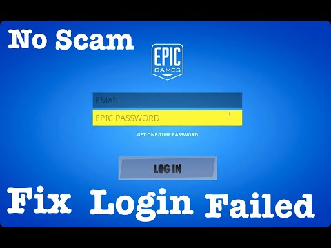 How To FIX FORTNITE LOGIN FAILED INSIDE Of GAME On MAC/WINDOWS 2020  (110% It Will WORK NO SCAM)