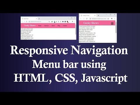 Responsive Navigation Menu Bar using HTML CSS and JavaScript (Hindi) thumbnail