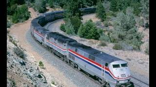 Amtrak #5, California Zephyr,  as we follow it to and from Donner Pass. August, 1999