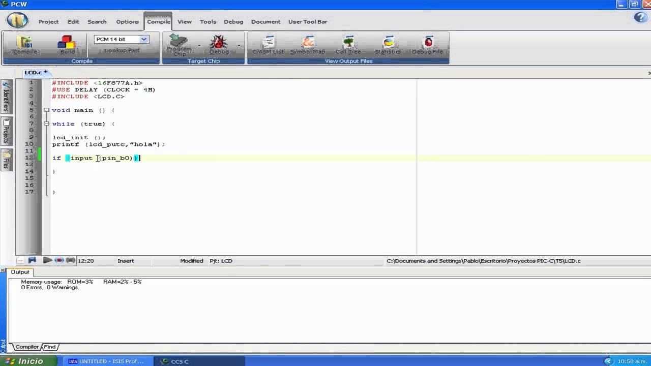 Video Tutorial Programar En Pic C Compiler No 5 Modulo