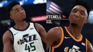 NBA 2K19 Donovan Mitchell Screenshot and Rating!