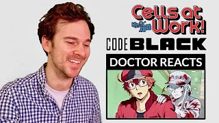 "DOCTOR reacts to CELLS AT WORK! CODE BLACK // Episode 1 // ""Smoking, Bacteria... """