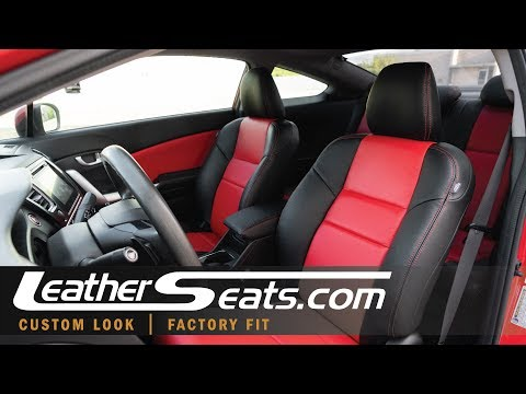 RED STITCHING REAL LEATHER ARMREST COVER FITS HONDA CIVIC 2006-2011