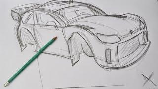 Drawing WRC car : Citroen C4 #damartwork