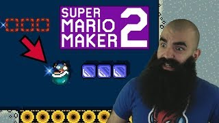 Mario Maker 2: No Skip Endless Super Expert Challenge #7 - Down is Up and Up is Down..