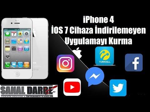 IPhone 4 İOS 7 Cihaza İOS 9 İsteyen Uygulamayı Yükleme Kesin Çözüm