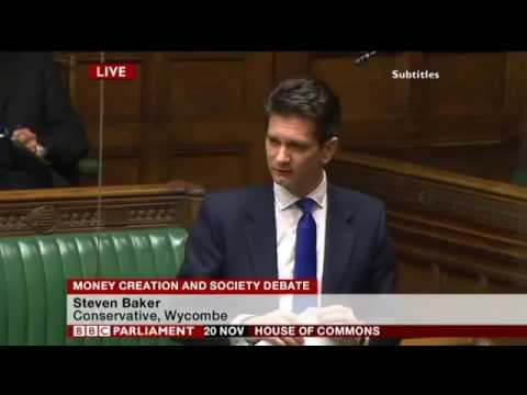 Steve Baker MP at the historic debate in UK Parliament on Money Creation