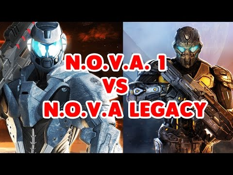N.O.V.A 1 VS N.O.V.A LEGACY - COMPARISON (GAMEPLAY And GRAPHICS)