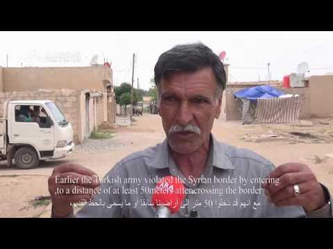 Turkey building barriers on border with Syria's Kurdish region