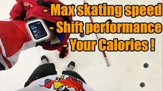 Max skating speed, Shift performance on your WRIST ! HockeyTracker for players, goalies and coaches