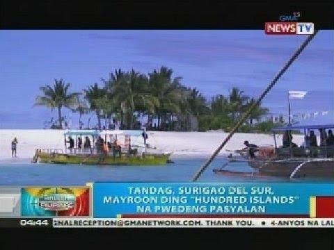 "Tandag, Surigao del Sur, meron ding  ""hundred islands"" na pwedeng pasyalan"