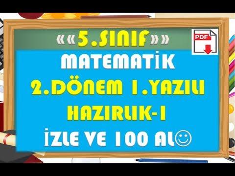 5.Sınıf Matematik 2.Dönem 1.Yazılı Hazırlık 1-Yardımcı Öğretmen