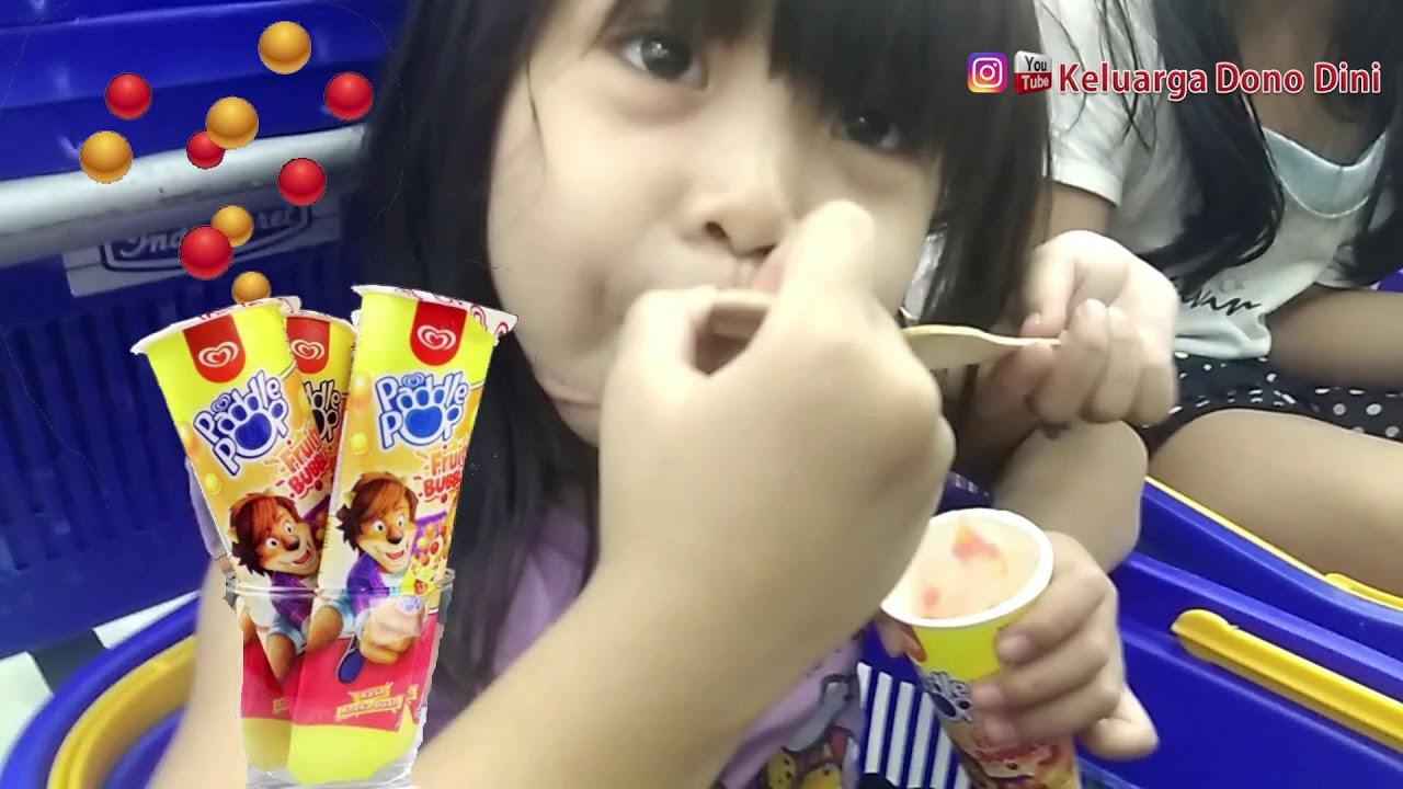Es Krim Paddle Pop Fruity Bubbles, krenyes krenyes rasa buah buahan