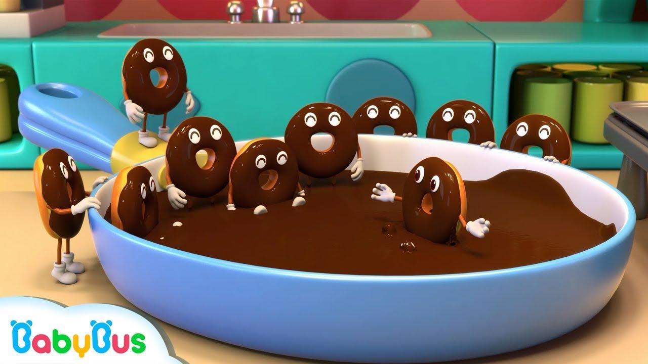 Baby Panda Makes Chocolate Donuts   Panda's Bakery Shop   Cook Pretend Play   BabyBus