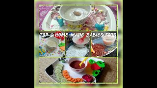 Top 5 Health Food for babies / 6 months baby food ideas/ Health for for toddlers