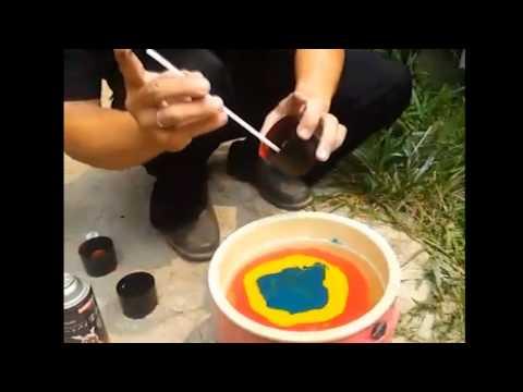 Easy Way To Do Water Transfer Printing 2 - Pilox Samurai Paint