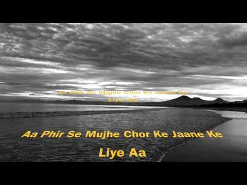 Ranjish Hi Sahi | Lyrics Video | Tasnim Jannat Nijhu | Shafaitul Islam