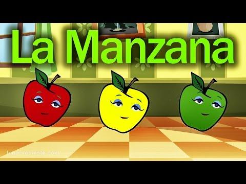 La Manzana Se Pasea - Rondas Infantiles - Videos Educativos En Español Lunacreciente