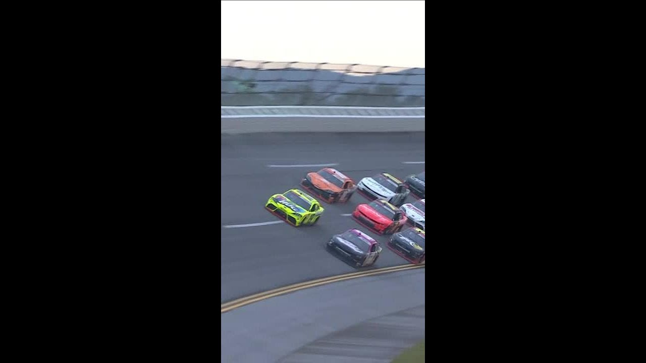 Harrison Burton triggers the big one late   #shorts   NASCAR