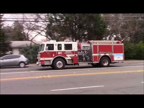 Lots Of Horn - Sacramento Metro Fire District (Reserve) Engine 109 & Medic 106 Responding Code 3