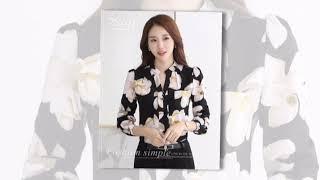 Autumn Fashion V-Neck Chiffon Blouses Slim Women Wear shirts Women Tops
