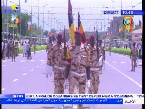 Le défilé militaire à la commémoration du 57ème anniversaire de l'independance du Tchad