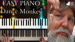 Dance Monkey (Tones and I) - Easy Piano Cover & Tutorial - leichte Klavierversion und Tutorial