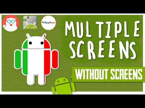 MULTIPLE screens app with only 1 screen! using different layout arrangements.