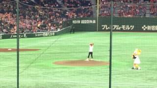 2017/04/13 広島東洋vs読売巨人 亀梨ナーイスバッティーン!