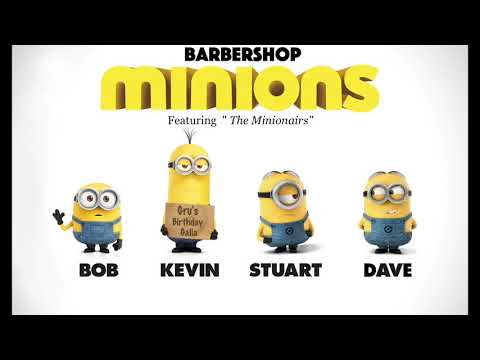 Barbershop Minions sing Crossroads Lucky Old Sun